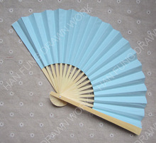 cheap and customized plain wedding bamboo paper fan