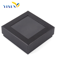 Cheap price glass top leather jewelry box case