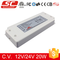 SC LED driver 0.83A 20W ip20 Triac Dimmable Constant Voltage led strip power supply 24v