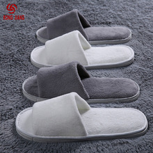 Premium hotel bed and breakfast inn with disposable slippers home hospitality coral velvet half Baotou slippers