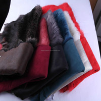 garment fur material double face lamb skin sheep fur skin Toscana goat fur skin