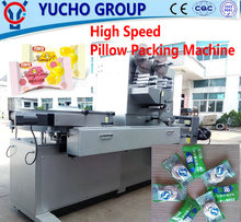China Big Factory Good Price Bubble Gum Pillow Type Packing Machine Horizontal Fill Seal