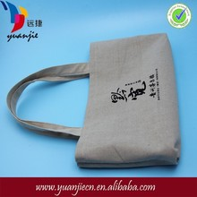 Promotional custom colored reusable recycled plain printed jute tote bags