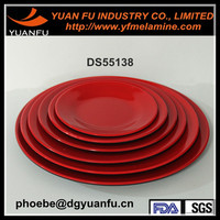 CE,LFGB Plastic Materia Dishes and custom cheap melamine plates