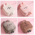 Cute rabbit Soft Plush Makeup Cartoon Design Plush Cosmetic Bag