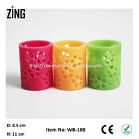 Wax flickering led pillar candles light (WB-108)