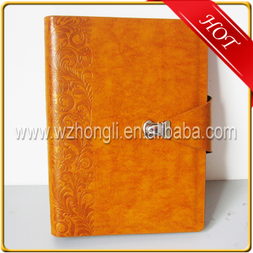 Popular Leather Agenda Spiral Notebook With Caculator