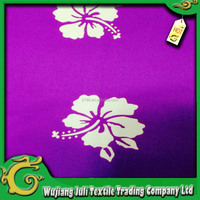 flower printed dress fabric satin fabric