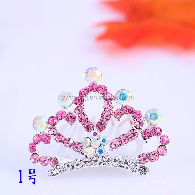Korean Fashion New Simulated Diamond Tiara Crown Kids Hair Accessories Factory Direct Sell