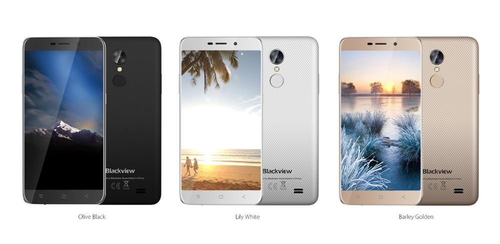 "Good Quality Blackview A10 2GB +16GB 5.0"" MT6580A Quad Core 5+8MP 2800mAh Multi-language Black Gold White 3G Mobile"