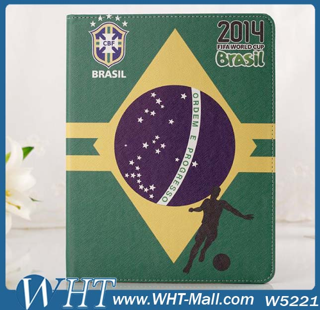 Brazil World Club Phone Cases Booklet Leather Flip Cover For iPad 234 Air 5