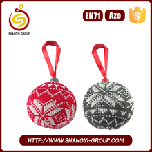 New arrival fashion novelty fabric christmas stuffed ball decoration