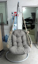 Grey single rattan wicker swing chair,rattan hanging chair/STOCKS PRICE