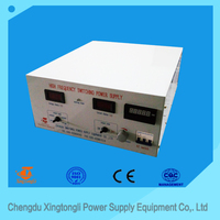 12V 1500A high frequency zinc plating rectifier with ampere counter