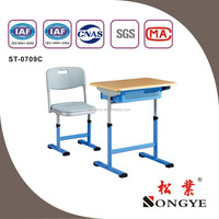SY Good quality adjustable height desk modern werzalit board school desk chair
