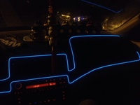 Car neon EL lights for car inside door and centor board decorate
