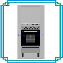 Hotsale small capacity Free standing gas cooker oven with four burner alumimun holder for Kitchen Hood