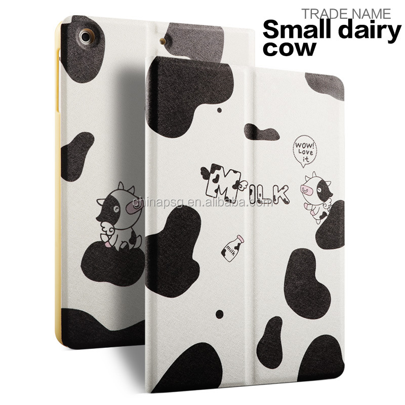 Compatiable Printed Rotary Leather Shockproof Kids Friendly Color print pu leather Joy color case for apple Ipad mini4