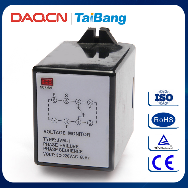 DAQCN JVM-1 AC 220V Phase Failure Phase Sequence Relay Device Protected Relay