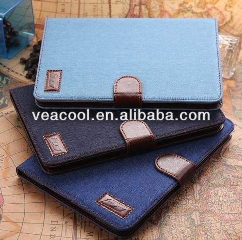 "Cowboy Skin Wallet Stand Fabric Leather Case Cover For Apple Ipad MINI 7""tablet case"