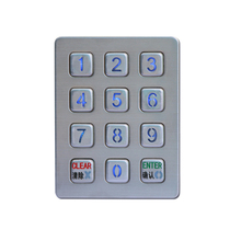 blue color aftermarket systems keypad stainless steel keyboard with trackball