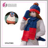 Spell Color Thick Warm Ladies Wool Hat Scarves Gloves Three-piece Set