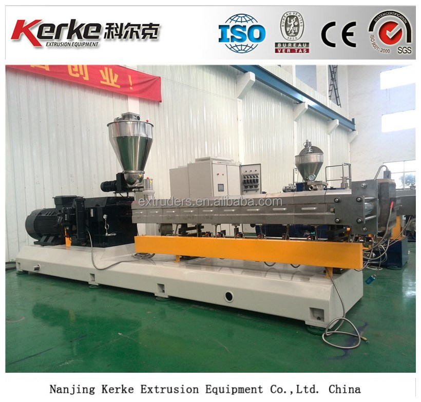 800kg/h Twin screw extruder machine for plastic pellets making