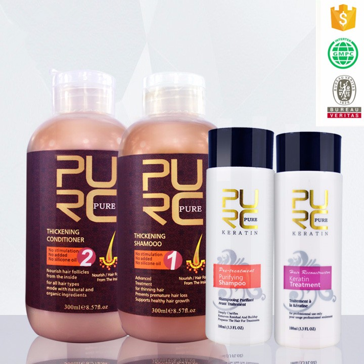GMP&ISO professional hair care factory wholesale natural hair thickening shampoo for men and women