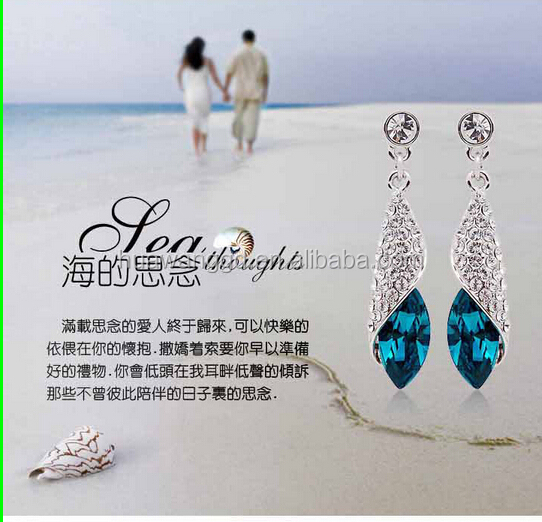 Bright crystal earring !! shiny jewelry Decorations earring!! wholesale