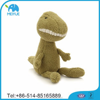 Hi-quality Big Teeth Smile Soft Plush Green Dinosaur Kind Toys