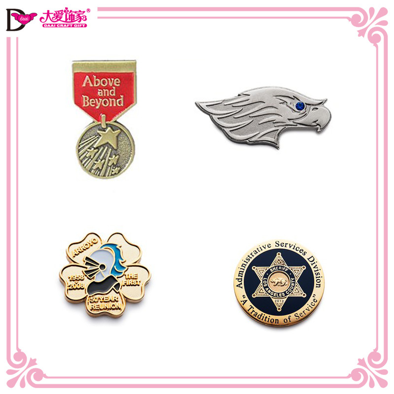 High quality OEM/ODM metal brooches for men mens brooch pins