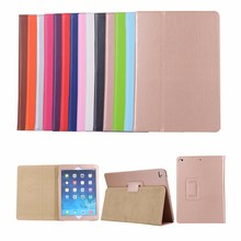 luxury pu leather litchi pattern tablet slim smart cover for iPad 9.7 2017