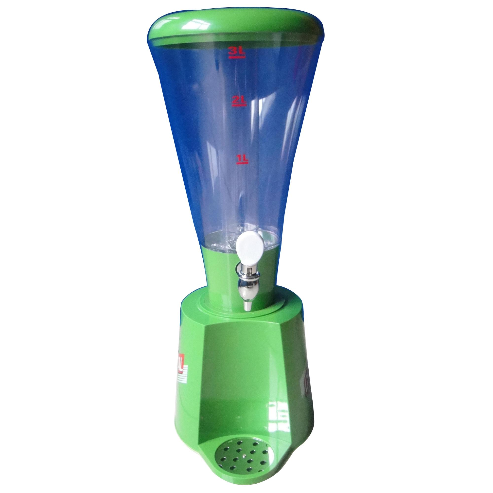 2.5L Cheap plastic beer tower or juice dispenser with led
