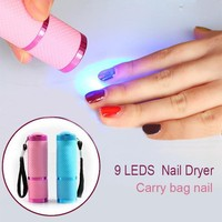 Eastony Aluminum Alloy Mini UV Gel Curing Lamp Portable Nail Dryer LED Flashlight Torch