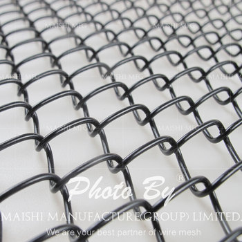 Dark Green chain-link fencing