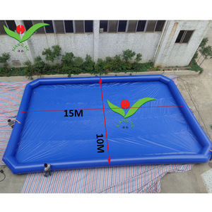 Outdoor playground large kids play game pool big size 15M giant inflatable pool