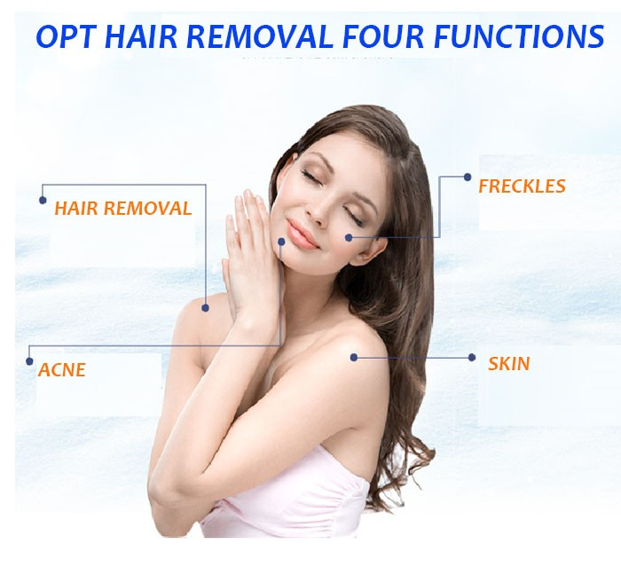 Topest OPT+Laser+Elight+RF Hair Removal For Four Functions with High Quality