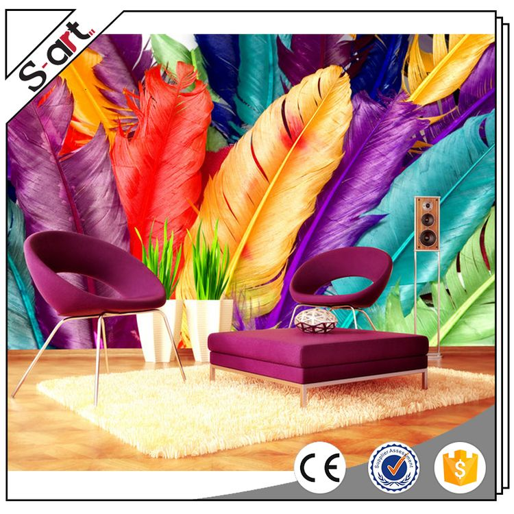 Premium quality competitive wood wallpaper 3d mural for restaurant