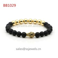 Dropshiping Fashion Jewelry Onyx Natural Stone And Copper Beaded Buddha Smart Bracelet