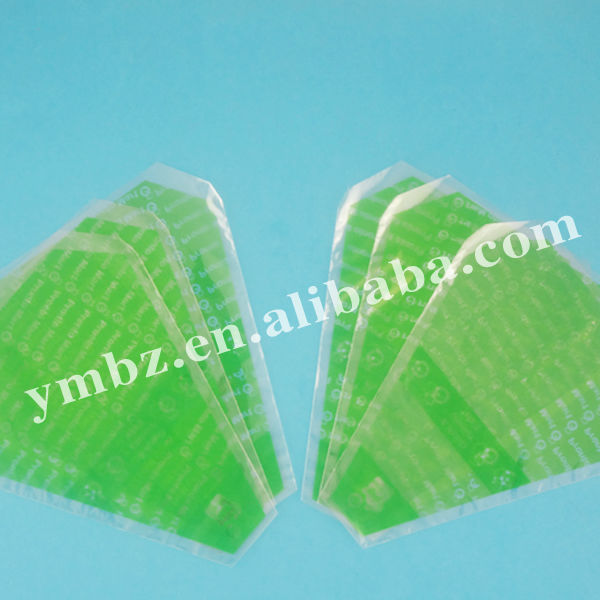Plastic special shape packing food bag packaging with front window for sale