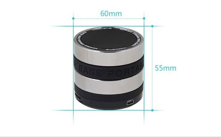 Super Bass Mini Portable Bluetooth speaker Handsfree Wireless Speaker 360 Degree Rotary Volume Control For MOBILE phone