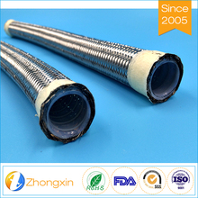 flexible Insulativity Stainless steel braiding corrugated teflon hose with ptfe inner tube