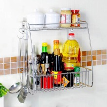 Household products high quality SUS304 stainless steel European standard two tier kitchen storage dish rack