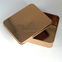 empty aluminium square tin can/food safe tin box
