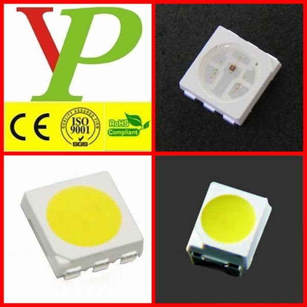 Super bright yellow 4.8mm 5mm led diode wide angle