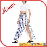 Manni Women New Trendy Skirt features button closures at front and slits at sides