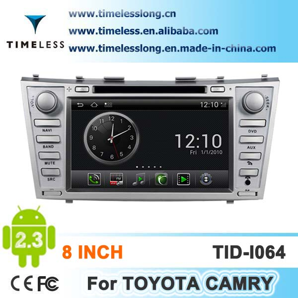 Android system 2 din Car DVD for TOYOTA Camry with GPS, Ipod, DVR,digital TV box, BT, 3G/Wifi(TID-I064)