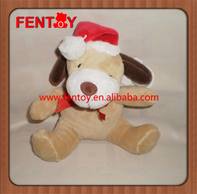 Christmas Xmas Santa Claus Dog Soft Toy Plush