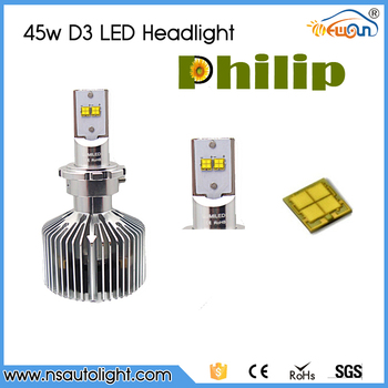China Supplier D3 6000k 5000k 4000k 3000k LED Headlight Bulbs 4500lm Car LED Headlight