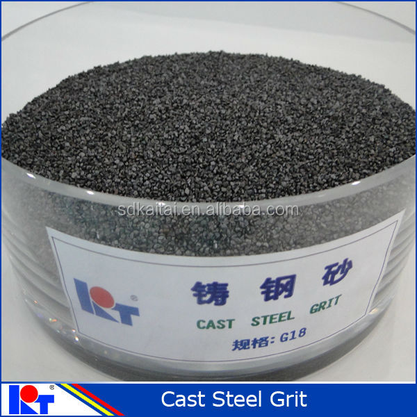 strong cleaning power abrasive: cast steel grit G18